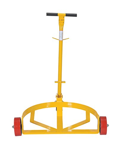 Vestil LO-DC-PU Lo-Profile Drum Caddie with Bung Wrench Handle and Poly-on-steel Wheel, Steel, 21-5/8'' Length, 31-5/8'' Width, 37-5/8'' Height, 1200 Capacity by Vestil (Image #3)