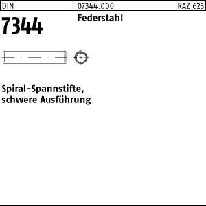DIN 7344 Federstahl Spiral-Spannstifte 500 St/ück Abmessung: 5x14 schwere Ausf/ührung
