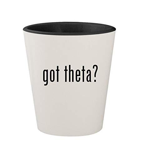 got theta? - Ceramic White Outer & Black Inner 1.5oz Shot Glass