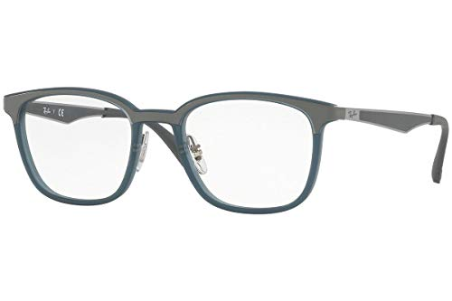 Ray-Ban Unisex 0RX7117 Matte Trasparent Grey/Blue One Size (Ray Ban Clear Glasses)