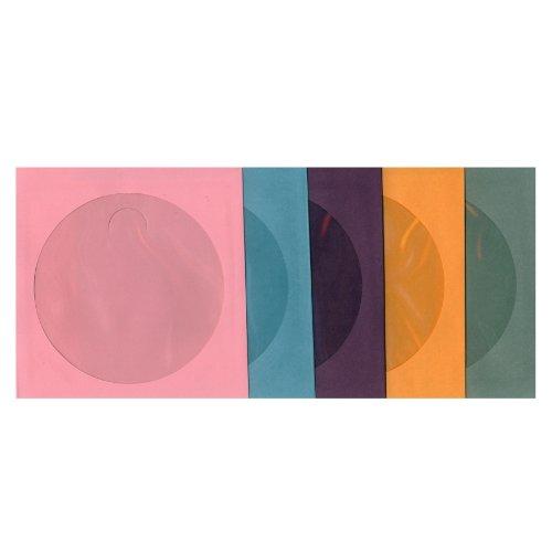 ASST. CD Paper Sleeves - Pink, Sky Blue, Purple, Orange, Gray - 100 Sleeves by KFMsupply ()