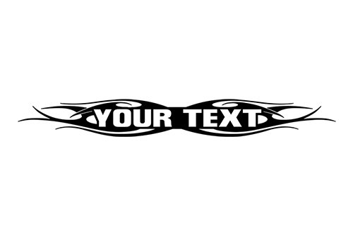 esign #115 Your Custom Text Personalized Customized Lettering Tribal Flame Windshield Decal Sticker Vinyl Graphic Rear Window Banner Car Truck SUV | 36