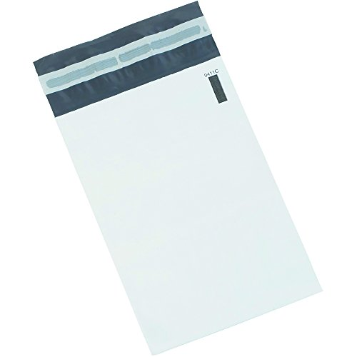 BOX BB880100PK Poly Mailers, 24'' x 36'', White (Pack of 100) by Box