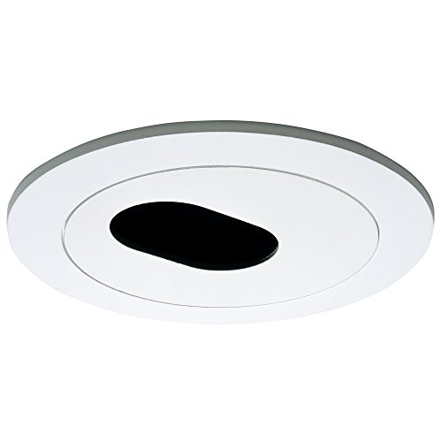 Halo Recessed 1420P 4-Inch Trim Slot Aperture, White - Slot Aperture Recessed Light Trim