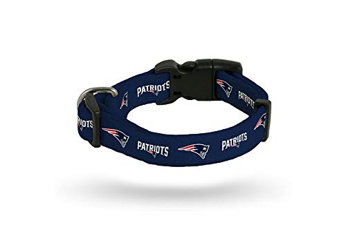 Rico Industries New England Patriots LARGE Adjustable Dog Pet Nylon Collar 16-26 Inch