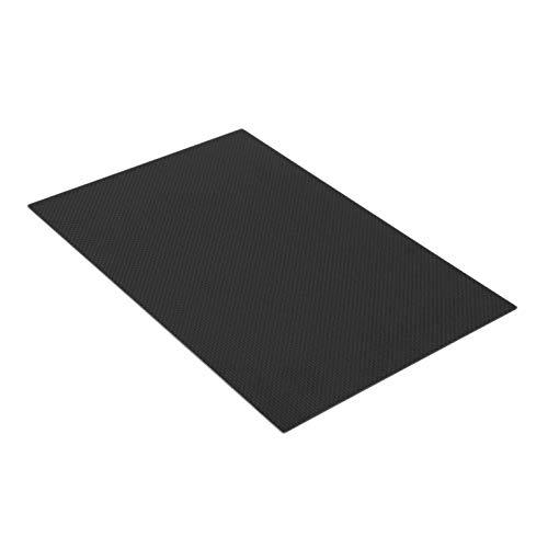 black Strong and Light 300 1mm Full Carbon Fiber Plate Panel Sheet Plain Weave Matt Surface for RC Assemblage 200
