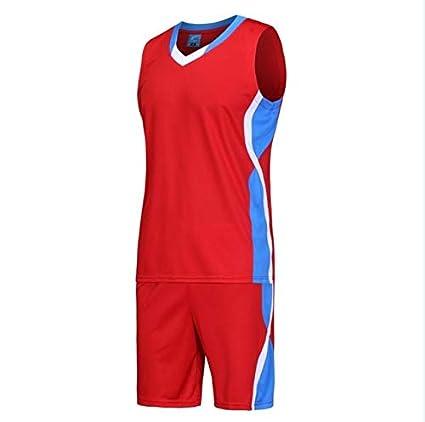 b26332c48 Amazon.com   BeesClover Men s Basketball Clothes Suit Short Sleeved Shirt  Custom Print Number Suit Men Basketball Suit Sports Wear Custom Made Tshirt  red ...