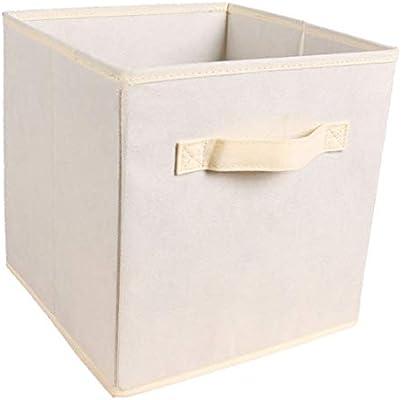 F Fityle Cubo De Almacenamiento Cesta De Tela Cajones Organizador Caja Compartimiento Diseño Abierto, Cesto De Lavanderías, Armario Estantería Organizador Caja - Amarillo: Amazon.es: Hogar