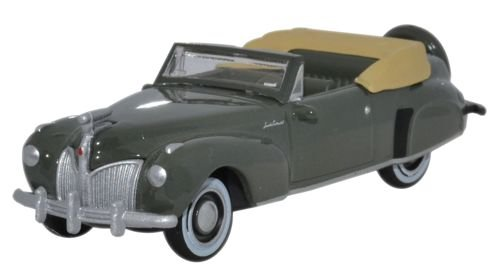 1:87 1941 Pewter Grey Oxford Diecast Lincoln Continental