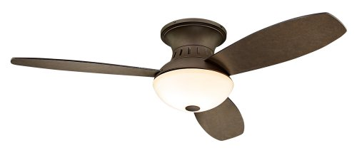 44' Encore Possini Euro Bronze Hugger Ceiling Fan