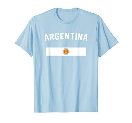 I Love Argentina Minimalist Argentinian Flag T-Shirt