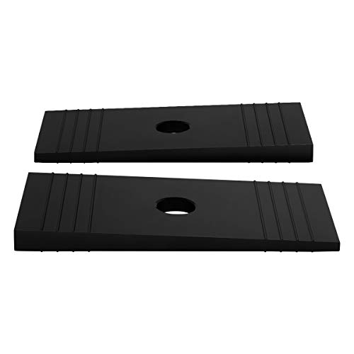 Supreme Suspensions - Universal Heavy Duty Axle Shims for Leafs and Lift Blocks (Black) - Shim Set Axle