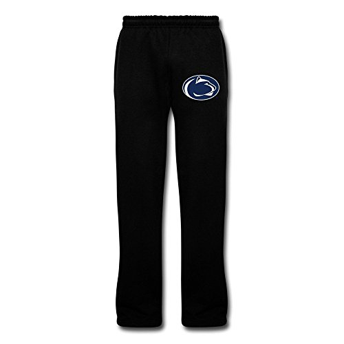 Dalymz Man NCAA Penn State Nittany Lions Logo Sweatpants Customized 100% Cotton 3X Black (Penn Sweatpants Cotton)