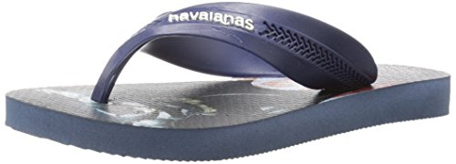 Havaianas Kids' Flip Flop Sandals, Max DC Heroes, Batman vs Superman, (Toddler/Little Kid),Indigo Blue,25/26 BR (10 M US Toddler)