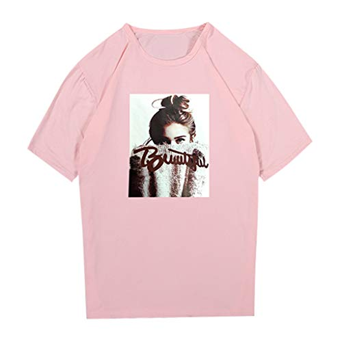 Women's Sexy Tops 2019,Summer Women T-Shirt Printing Short Sleeve O Neck Slim Fit Casual Blouse Under 10 Dollars ()