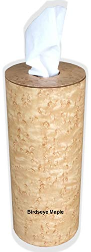 Kleenex Tissue Cylinder Sleeve Cover Holder in Wood (Birdseye Maple)