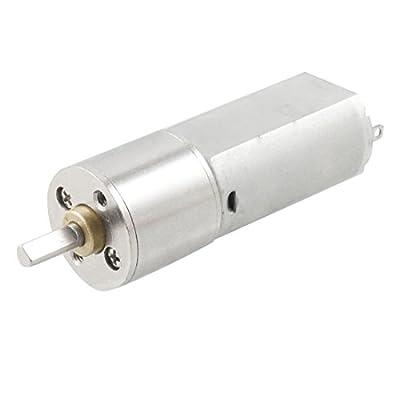 Uxcell DC 6V 60RPM Speed Torque Gear Box Robot Electric Motor, 16 mm
