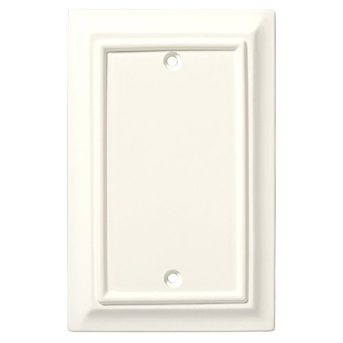 - Brainerd 126339 Wood Architectural Single Blank Wall Plate / Switch Plate / Cover