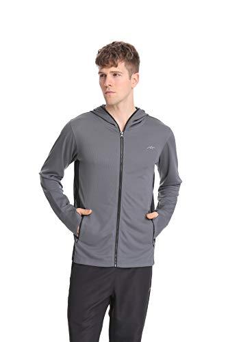 (Trailside Supply Co. Men's Zip-up Top Hoodies Grey 2XL)