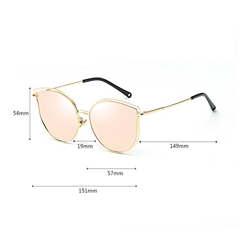 UV WLHW 400 Traveling Pink Pink Holiday Color Cateye Driving de sol Modern Gafas Fashion Mirror Gafas PwEqvFq