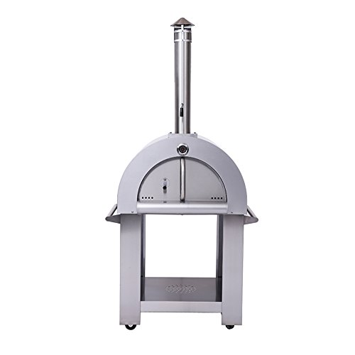 OvenTEch Wood Fired Stainless Steel Artisan Pizza Oven or Grill, Outdoor or Indoor