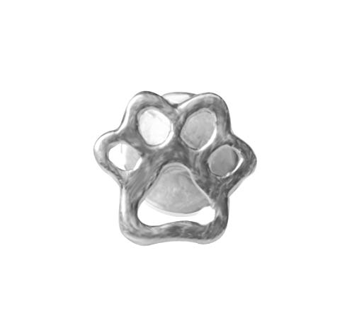 Adastra Jewelry Small Kitty Foot Print Design Labret 925 Sterling Silver Handmade ()