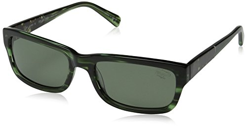 Original Penguin Men's The Sammy Polarized Sunglasses, Feathered Green,Green Tortoise,Feathered Green & Green, One - Sunglasses Penguin