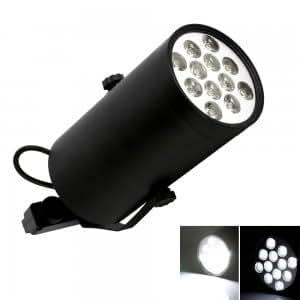 12W 12 LED 6000-6500K Track Pure White Light LED Spotlight(85-265V)