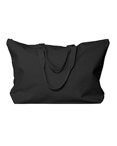 Cotton Canvas Zippered Tote - 5
