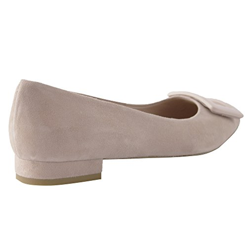 Exclusif Paris Luana 39,5, Ballerines Nubuck Rose Taille 39,5