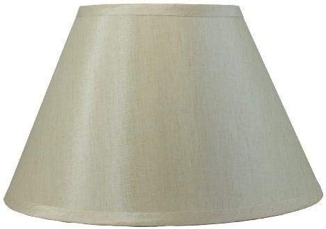 Urbanest Coolie Hardback Lampshade, Faux Silk, 6-inch by 12-inch by 8-inch, Spider Washer Fitter, Champagne