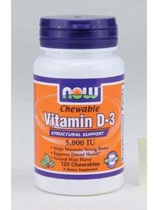 Iu 120 Chewable (Now Foods Vitamin D-3 5,000 Iu - 120 Chewables)