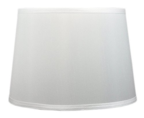 Urbanest French Drum Lampshade, Faux Silk, 16-inch, Off Whit