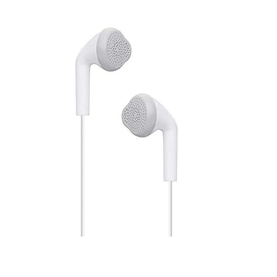 Kanget EHS61 Hands-Free Headset with 3.5 mm Jack and Mic Compatible with All Samsung Smartphones (White)