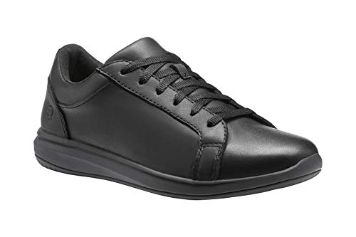 Superfeet Women's Newberry Low SV Lace-up Sneaker, Black, Leather/Suede, Women's 8.5 US