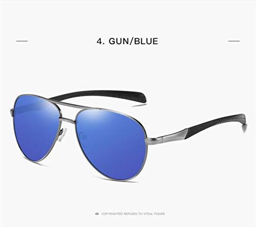 Gafas Mujer Hombre UV Sol 400 darkblue Y Classic Style Gold para Piloto De Polarized para Protection rxASrn