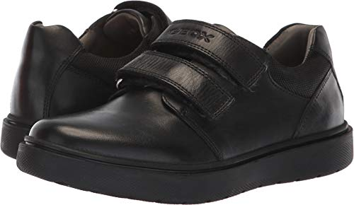 Geox RIDDOCK BOY 5 Velcro Dress Sneaker Shoe School Uniform, Black Oxford, 41 Medium EU Big Kid (7 US)