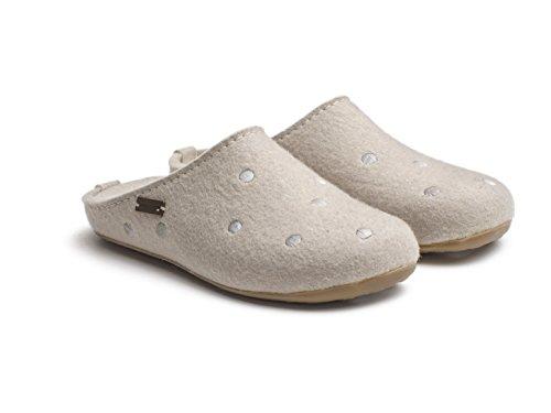 Haflinger Unisex-Erwachsene Noblesse Pantoffeln Beige