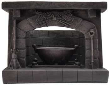 Bounty of Earth Witches Hearth Fireplace Tea Light Votive Il