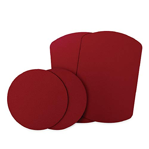 Metal Plate, Mingo Metal Plates with 3M Adhesive Back for Magnetic Car Dash Mount Cell Phone GPS and Tablet Holder (4 Packs, 2 Rectangle and 2 Round) (Red)