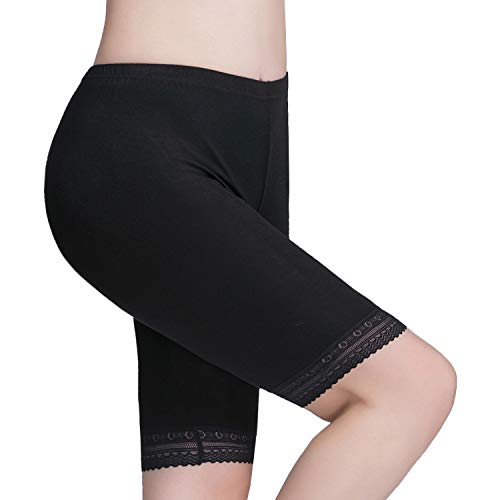 Vinconie Damen Kurze Leggings Knielange Leggins Elastische Kurze Radlerhose Sicherheits Shorts
