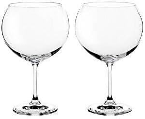 Cristal de Bohemia - Juego de 6 copas Bohemia Gin Tonic: Amazon.es ...