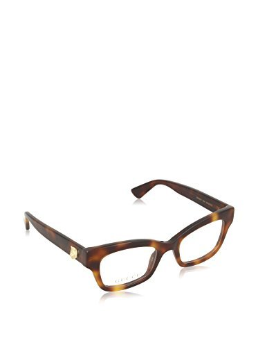 Gucci GG 0031O 002 Havana Plastic Cat-Eye Eyeglasses 48mm by Gucci