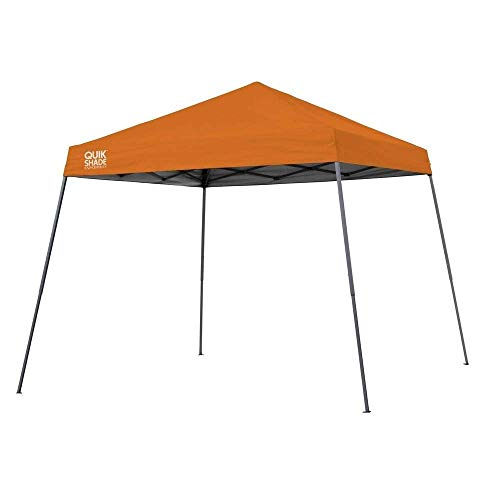 Quik Shade Expedition 10 x 10-Foot Instant Canopy, Slant Leg Outdoor Tent, 64 Square Feet of Shade for 8-12 People - - Padres Tie