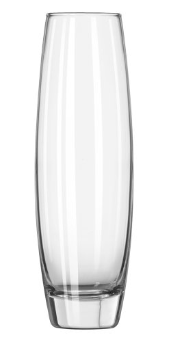 Libbey 7 1/2 Inch Elite Bud Vase in Clear, Set of 12