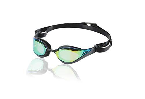 - Speedo Fastskin Pure Focus Swim Goggles, Blue/Gold/Grey, One Size