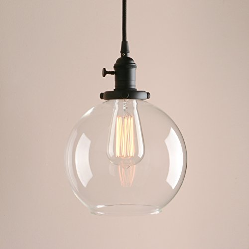 Black Globe Pendant Light - 6