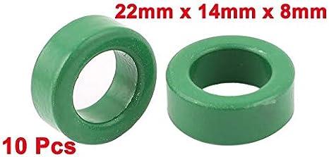Taille : 22MM F-MINGNIAN-SPRING 10 pi/èces 22mm X 14mm X 8Mm Transformateur toro/ïdal Ferrite Cores Vert largement utilis/é dans Les transformateurs de Puissance