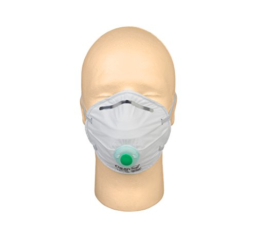 CleanTop C270V N95 Particulate Respirator, Disposable Dust Mask, NIOSH N95 Approved with Exhaust Valve (10 Masks)