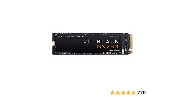 WD HD-1899 Unidad de Estado Solido SSD Black Sn750 NVME M.2 500GB Pcie Gen3 8GB/S Lect 3470Mb/S Escrit 2600Mb/S,